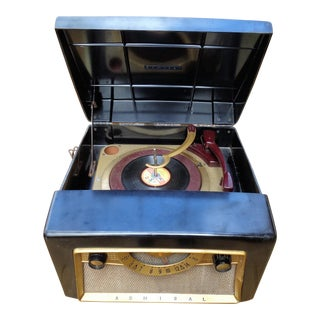 Vintage Admiral Record Player Radio, 1950s