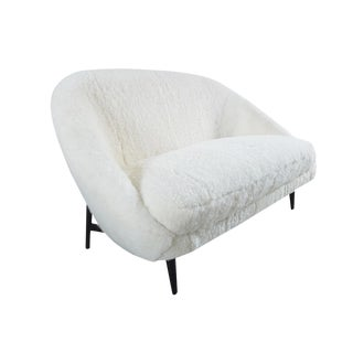 Theo Ruth Sofa Model 115 for Artifort in soft sheepskin, The Netherlands 1959