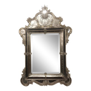 Vintage Murano Signed Mirror