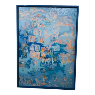 Mid Century Abstract Oil Painting by William Watt For Sale