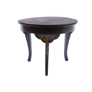 1940s Chinoiserie Hand Painted Side Table For Sale