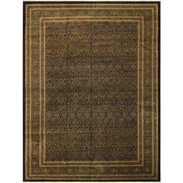 "Design Heritage Shakira Brown & Green Wool Rug - 12'2"" x 17' For Sale"