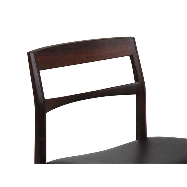 Black Rare Arne Vodder Solid Rosewood Dining Chairs - Set of 8 For Sale - Image 8 of 13