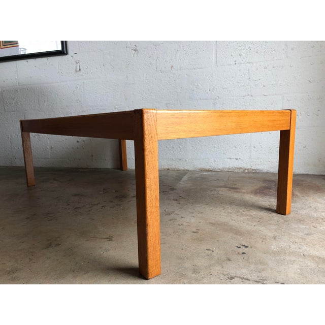 Vintage Mid-Century Danish Modern Coffee Table with insert Ceramic tile top By Gangso Mobler Denmark. This beautiful table...