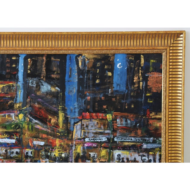 Juan Guzman Los Angeles Cityscape Abstract Painting For Sale - Image 4 of 10