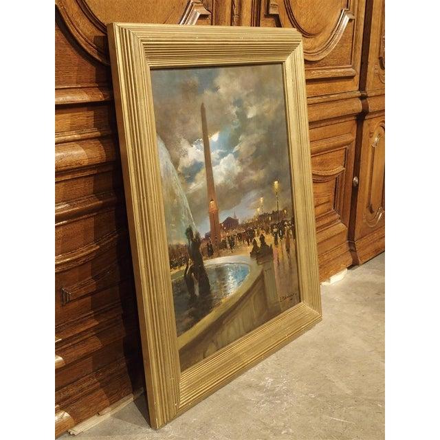 """""""Evening at La Place De La Concorde, Paris"""" Painting by Paul Balmigere (1882-1953) For Sale - Image 4 of 13"""