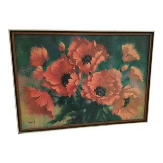 Floral Painting by Saroy For Sale