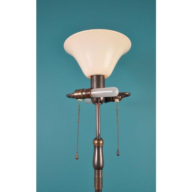 Large Brass Floor Lamp, Bag Turgi, Zurich, Switzerland, Circa 1940s For Sale - Image 10 of 11