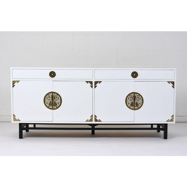 Mid-Century Modern Style Lacquered Credenza For Sale - Image 10 of 10
