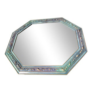 Vintage Ornate Refinished Octagon Mirror