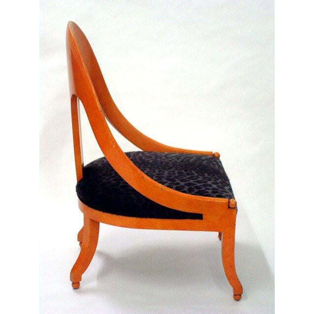Mid-Century Modern Michael Taylor for Baker Neoclassic Spoonback Chairs - a Pair For Sale - Image 3 of 9