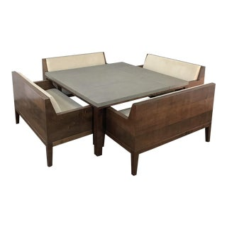 Designer Table & 4 Matching Benches by Christian Liaigre For Sale