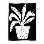 Polkadot Plant by Kate Roebuck in White Framed Paper, XS Art Print