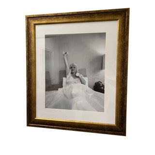 Vintage Photograph Mae West Lifting Weights in Bed For Sale