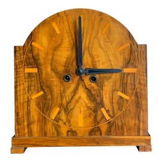 1920s German Art Deco Mantel Clock For Sale