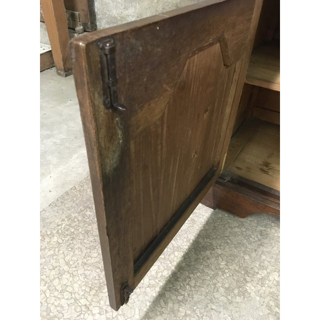 Brown Mid 19th Century Antique English Petite Sideboard For Sale - Image 8 of 12