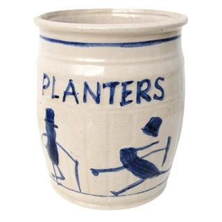 Stoneware Crock Planters Peanuts Advertising