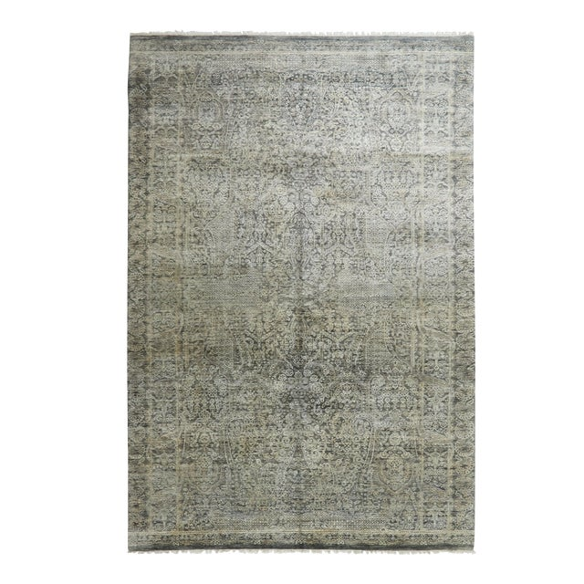 """Contemporary Hand-Knotted Area Rug 6' 0"""" x 8' 0"""" For Sale"""