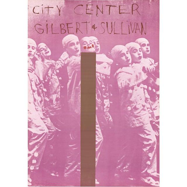 "Jim Dine Gilbert and Sullivan 35"" X 24.5"" Poster 1968 Pop Art Pink, Brown For Sale"