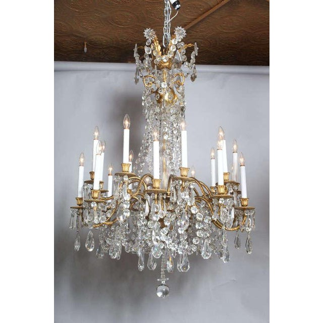 Crystal & Bronze 18-Light Chandelier from the Ritz Carlton on Palm Beach - Image 2 of 10