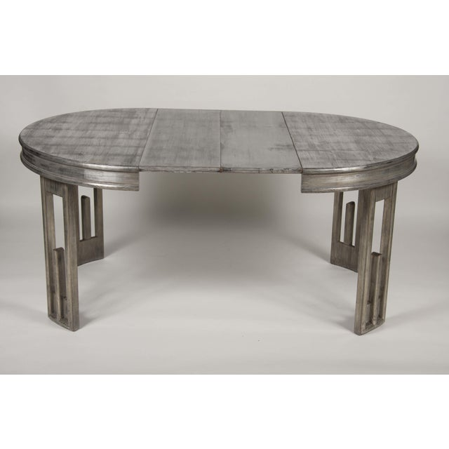 Mid-Century Modern Silver Leaf Dining Table by James Mont For Sale - Image 3 of 13