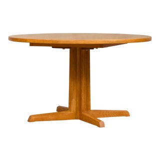Danish Modern Niels Moller Round Oak Extension Table For Sale