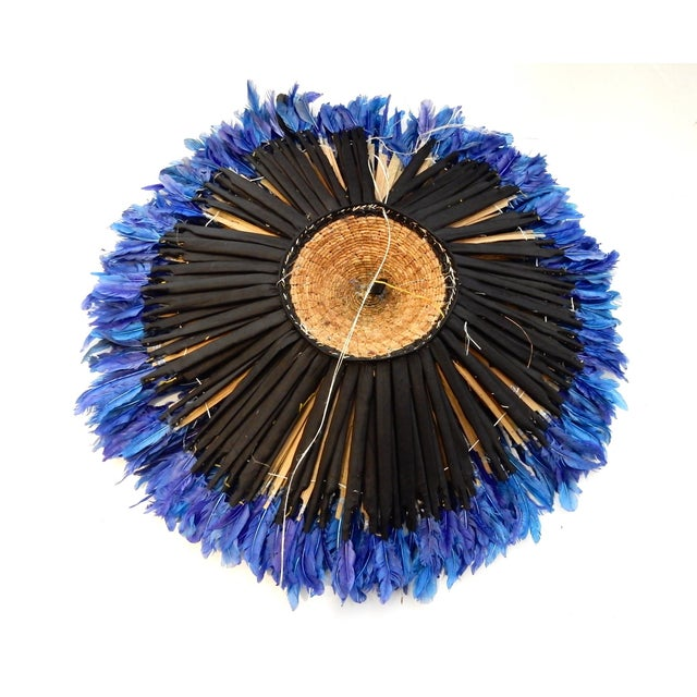 Juju Hat Cobalt Blue African Wall Hanging - Image 6 of 6