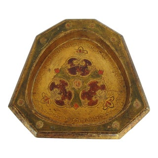 Vintage Italian Gold Florentine Catchall For Sale