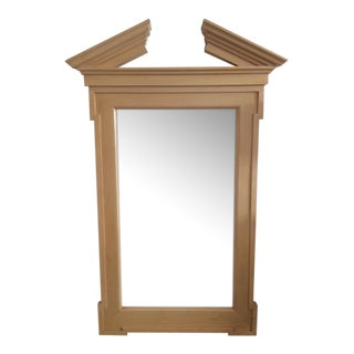 John Hutton for Donghia Georgian Broken Pediment Floor Mirror For Sale