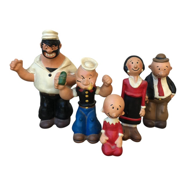 vintage popeye characters set 5 chairish