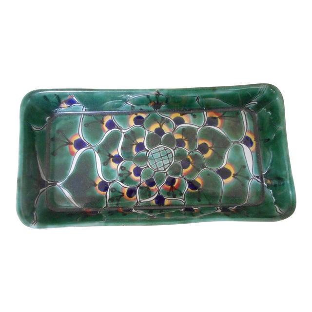 Decorative Mexican Ceramic Dish - Image 1 of 4
