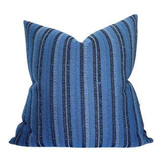 Majorelle Woven Pillow Cover in Indigo For Sale