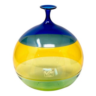 Vinciprova Color Block Murano Glass Vase For Sale