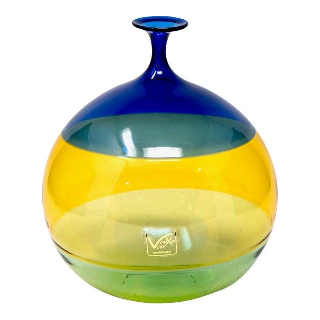 Vinciprova Color Block Murano Glass Vase For Sale
