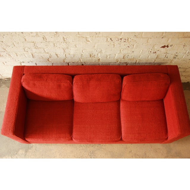 Milo Baughman Style Floating Sofa - Image 6 of 8