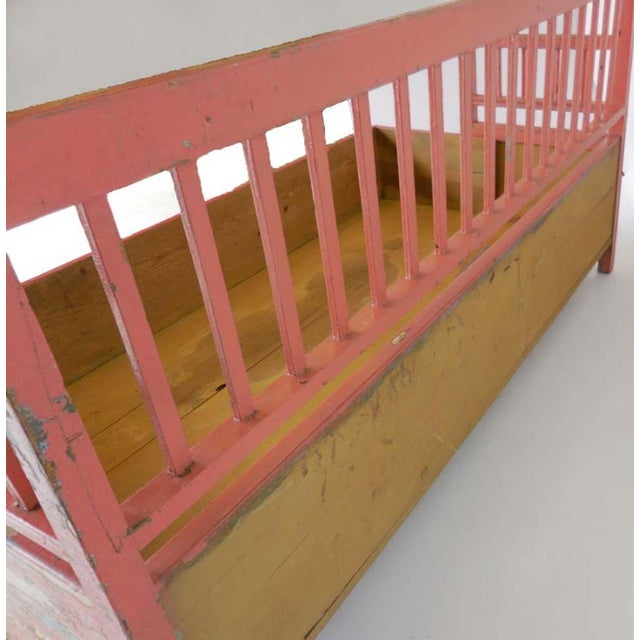 19th Century Painted Swedish Bench/Daybed For Sale - Image 9 of 9