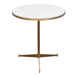 "Paul McCobb Brass ""Cigarette"" Side Table For Sale"