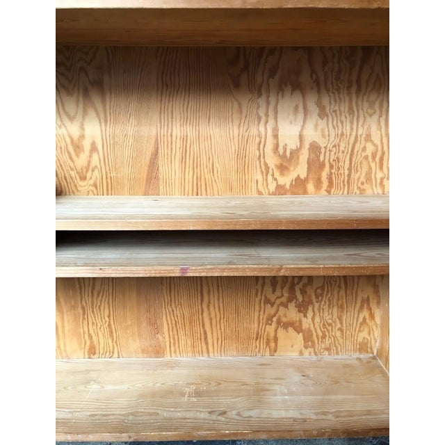 Brown French Pine Bookshelf With Adjustable Shelves For Sale - Image 8 of 9