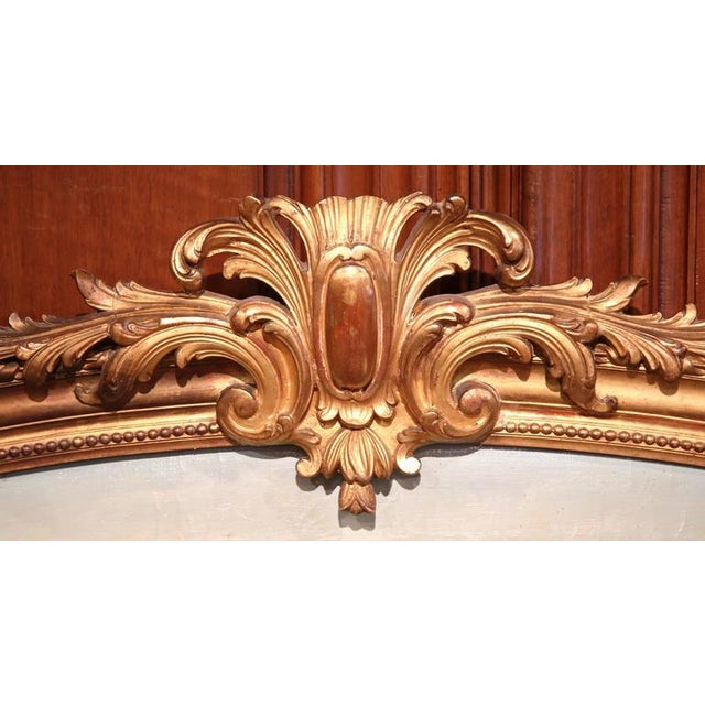Early 20th Century French Oil Cows Painting in Carved Arched Gilt Frame For Sale In Dallas - Image 6 of 10