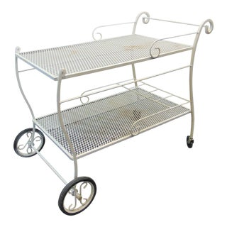 Mid Century Salterini Style Serving Cart For Sale
