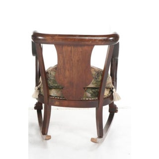 Vintage Victorian Style Upholstered Rocking Chair Preview