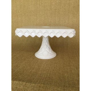 Milk Glass Cake Stand Preview