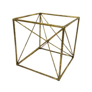 Abstract Contemporary Metal Cube Sculpture For Sale