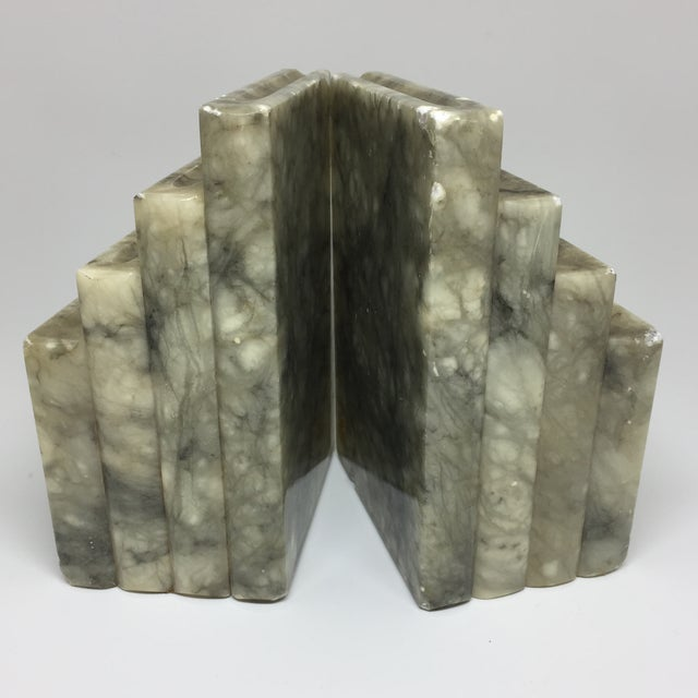 Marble Stacked Books Bookends - A Pair - Image 2 of 8