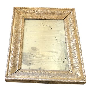 19th Century Gold Leaf Mirror With Original Glass For Sale