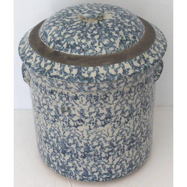 American 19th Century Two-Piece Sponge Ware Water Cooler For Sale - Image 3 of 9