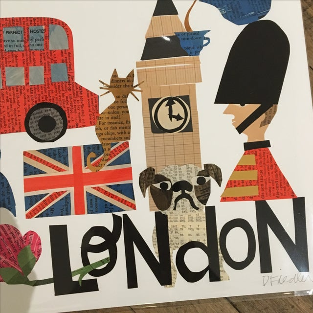 London Collage Print by Denise Fiedler - Image 3 of 4