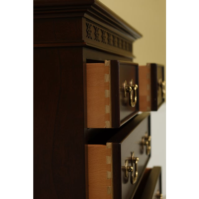 Wood Century 8 Drawer Chippendale Style Mahogany Lingerie Chest For Sale - Image 7 of 11