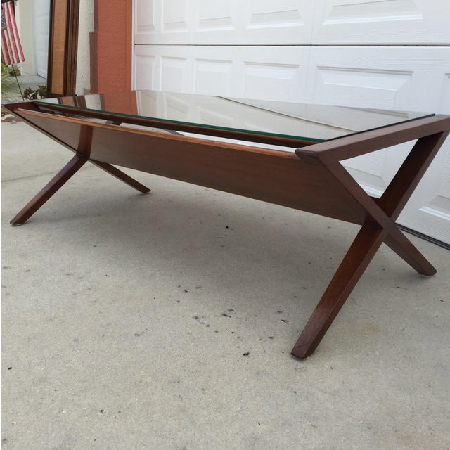 John Van Koert Walnut Coffee Table - Image 8 of 11