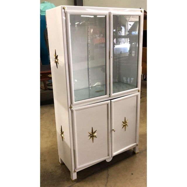 Superb Pair of Vintage Metal Dental Cabinets - Restored. Each includes two glass shelves.